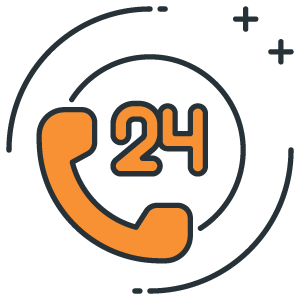 24/7 telephone support